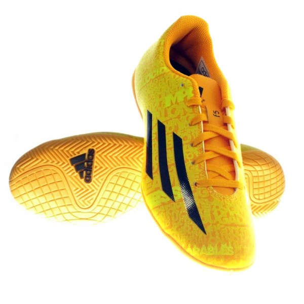 5784a6e7aef55 Adidas F5 Messi - Mens Indoor Soccer Shoes - Solar Gold/Black ...