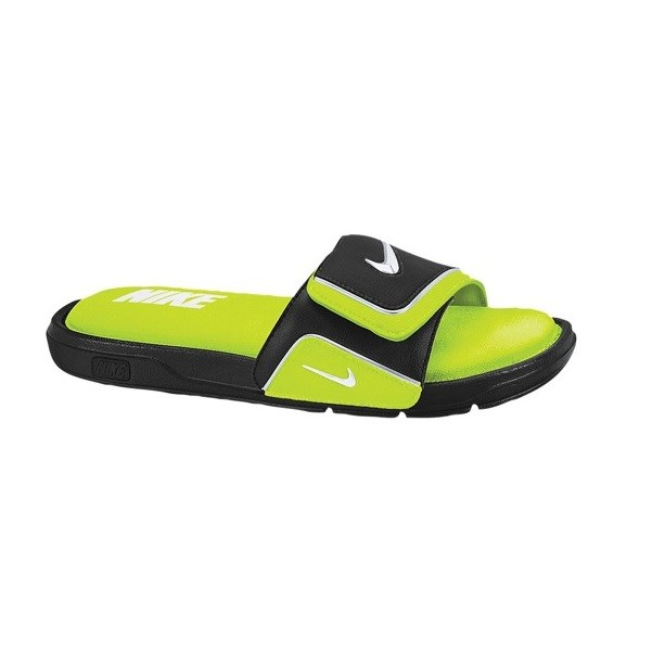 849edd14b22095 Nike Comfort Slide 2 - Mens Casual Slides - Black White Volt Metallic