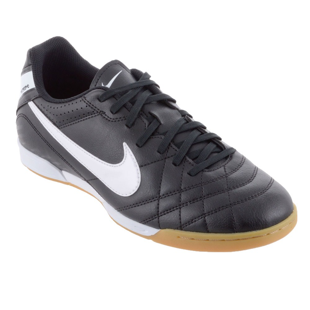 Nike Tiempo Natural IV - Mens Indoor Soccer Shoes - Black/White