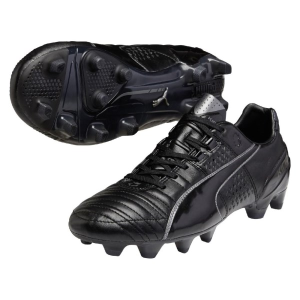 Puma King II FG Mens Football Boots - Black Aged Silver  bc6331f28