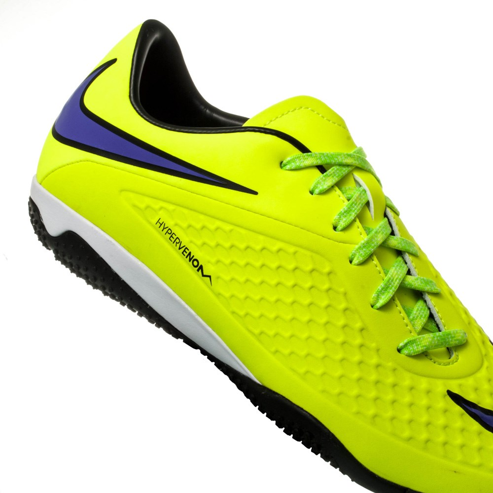 5dafd7531 Nike Hypervenom Phelon IC Mens Indoor Soccer Shoes - Volt Persian Violet