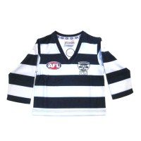 Sekem Official Supporter AFL Geelong Cats Long Sleeve Toddler Football Guernsey