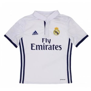 Adidas Real Madrid Home 2016/2017 Kids Soccer Jersey