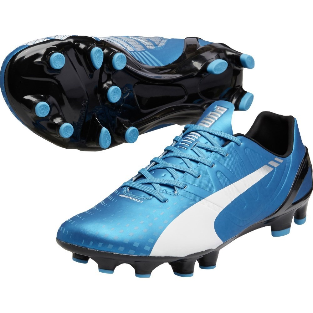 7fed73034 Puma Evospeed 2.3 FG Mens Football Boots - Hawaiian Ocean White ...