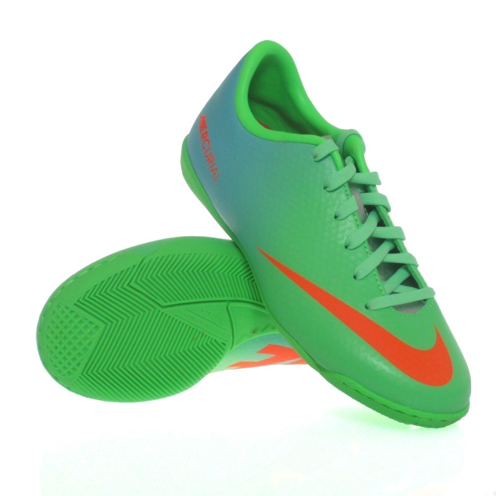 4898c2908 Nike Mercurial Victory IV IC - Kids Indoor Soccer Shoes - Lime ...