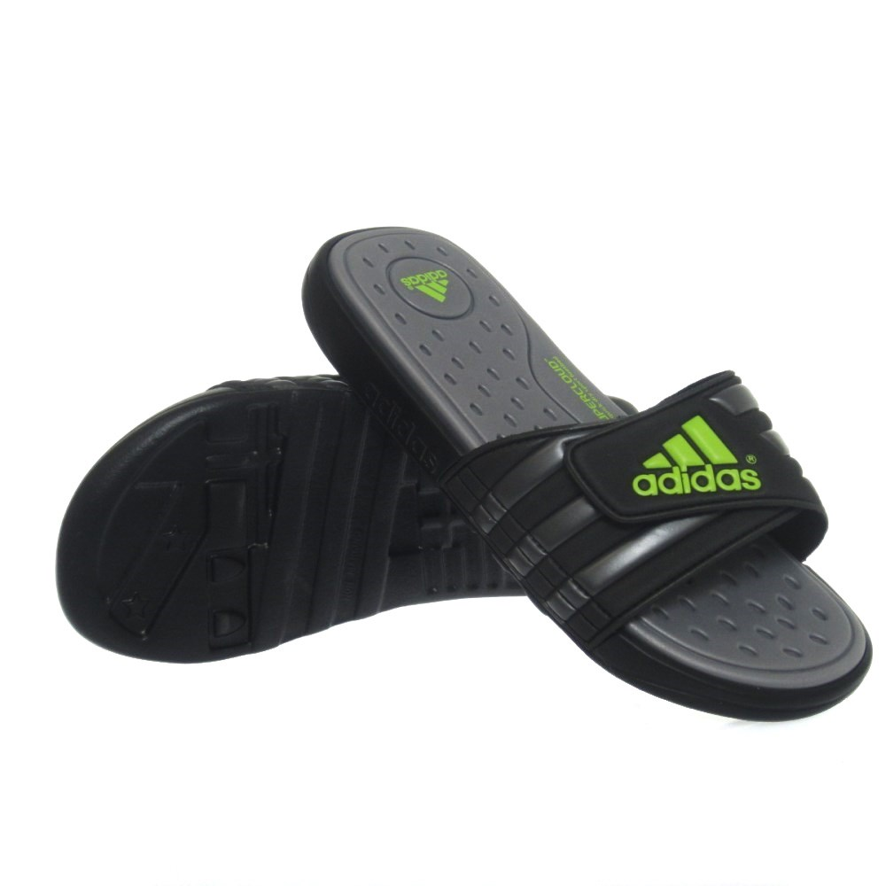 new products 491d8 7bbf2 Adidas Adissage Supercloud Mens Slides - Black Grey Slime