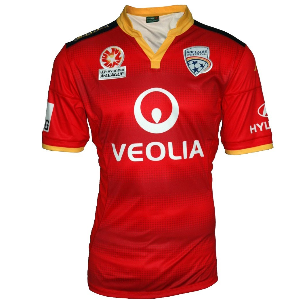 61498115c569 Kappa Adelaide United Home Mens Soccer Jersey - Red