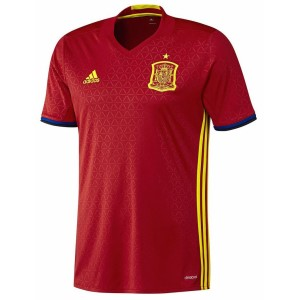 Adidas UEFA Euro 2016 Spain Home Replica Kids Soccer Jersey