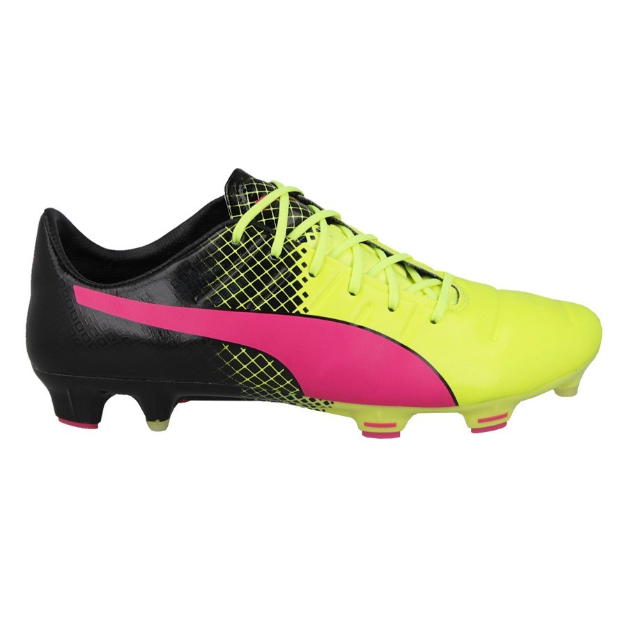 a8e4bb194 Puma evoPOWER 1.3 Tricks FG Mens Football Boots - Pink Glo Safety  Yellow Black
