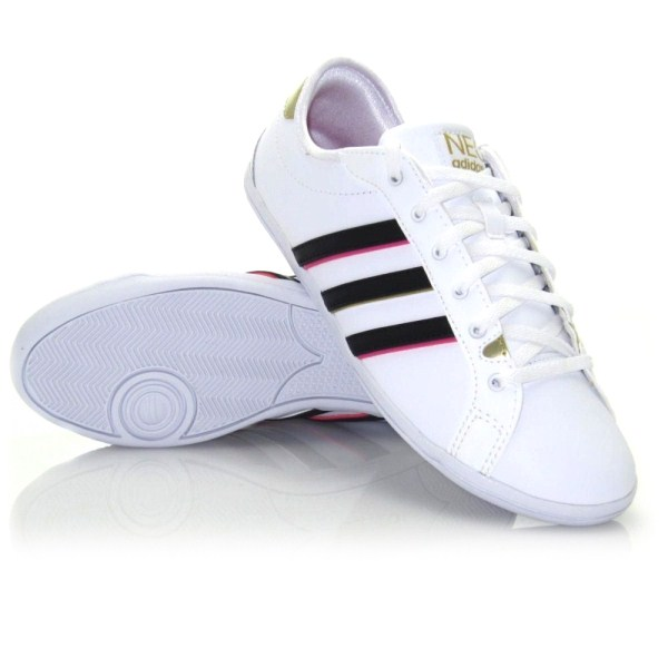 Adidas Derby QT - Womens Casual Shoes - White Black  d3529bc43
