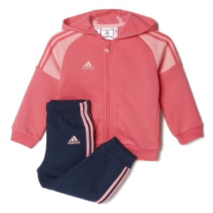 Adidas Shiny Hooded Jogger Infant Girls Tracksuit