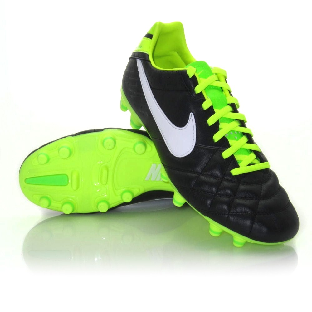 a4e142e60 Nike Tiempo Mystic IV FG - Mens Football Boots - Black/White/Green ...