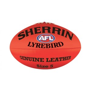 Sherrin AFL Lyrebird Leather Football - Size 5
