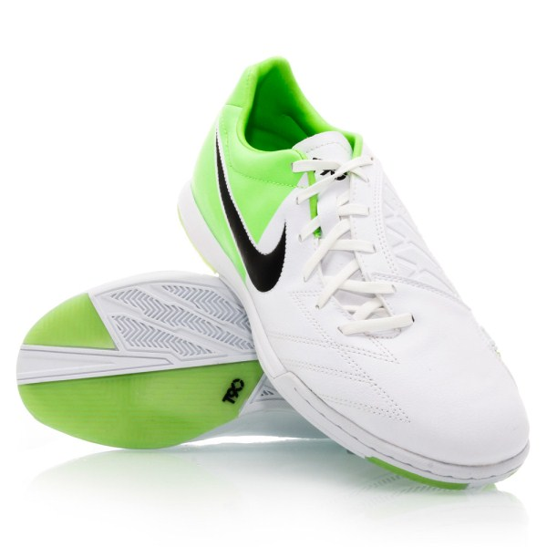 new product 51a6e 26101 Nike T90 Shoot IV IC - Mens Indoor Soccer Shoes - White Green