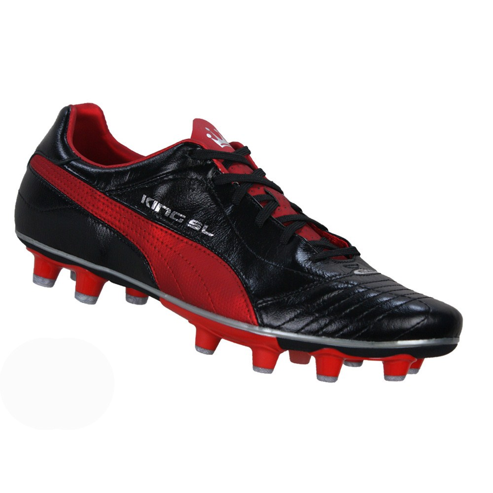 black puma king football boots