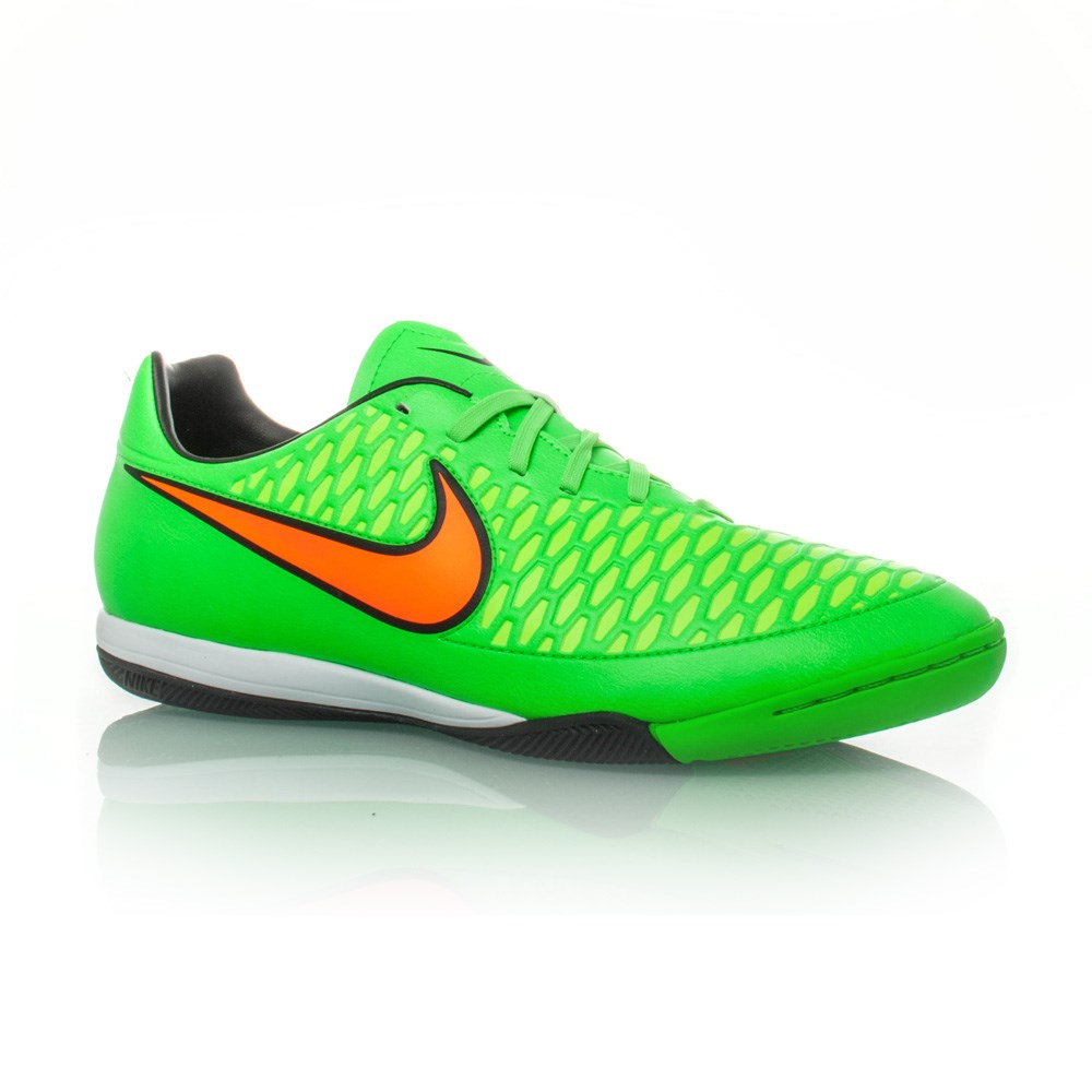 nike soccers shoes green orange