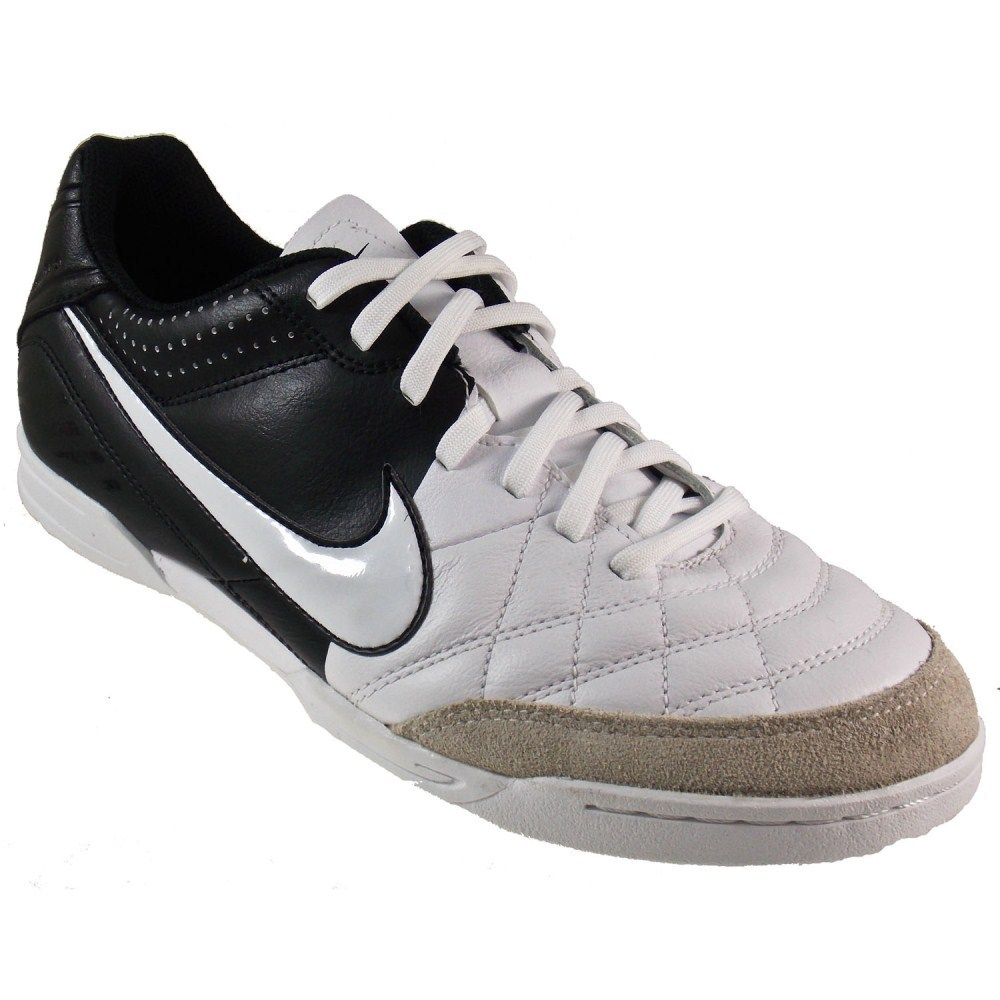 Nike Tiempo Natural IV - Mens Indoor Soccer Shoes - White/Black