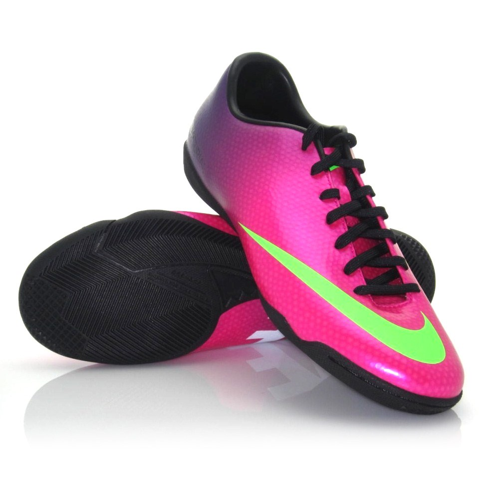 7ed21eaf7c9 Nike Mercurial Victory IV - Mens Indoor Soccer Shoes - Pink Purple ...