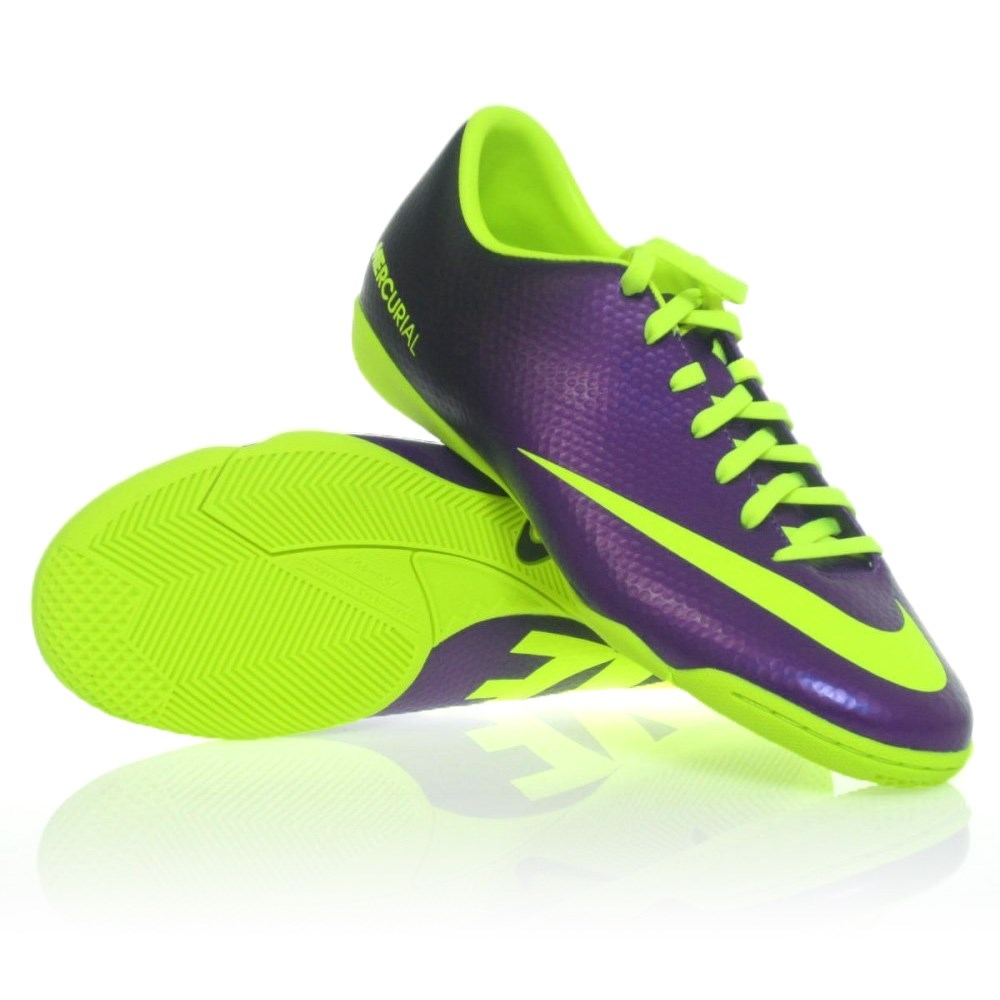 5f41663ec Nike Mercurial Victory IV - Mens Indoor Soccer Shoes - Electro Purple/Green  Glow