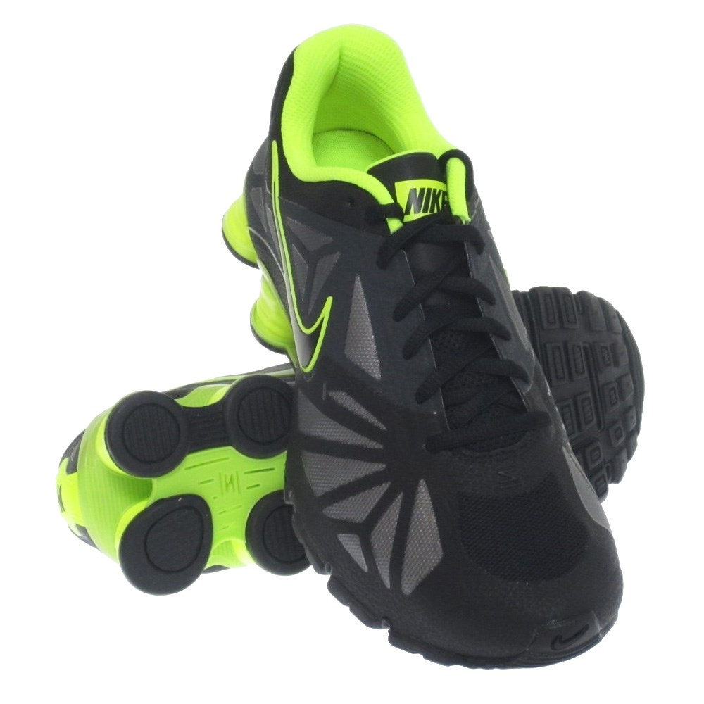 Nike Shox Turbo 14 - Mens Running Shoes - Black/Volt