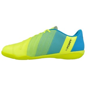 372ca7086 ... Puma evoPOWER 4.3 IT Mens Indoor Soccer Shoes - Safety  Yellow/Black/Atomic Blue ...