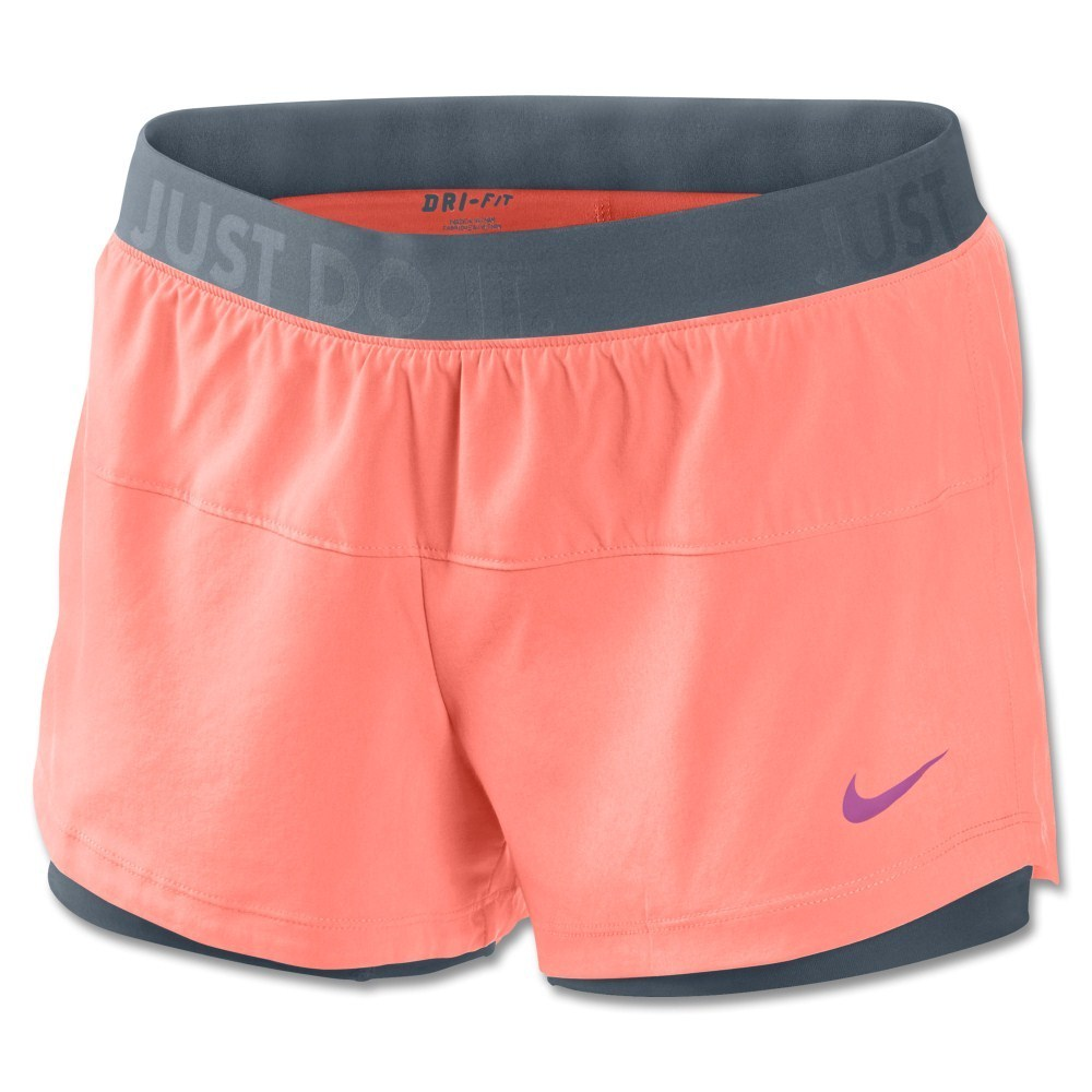 nike 2in1 shorts. nike icon woven 2-in-1 womens training shorts - atomic pink 2in1