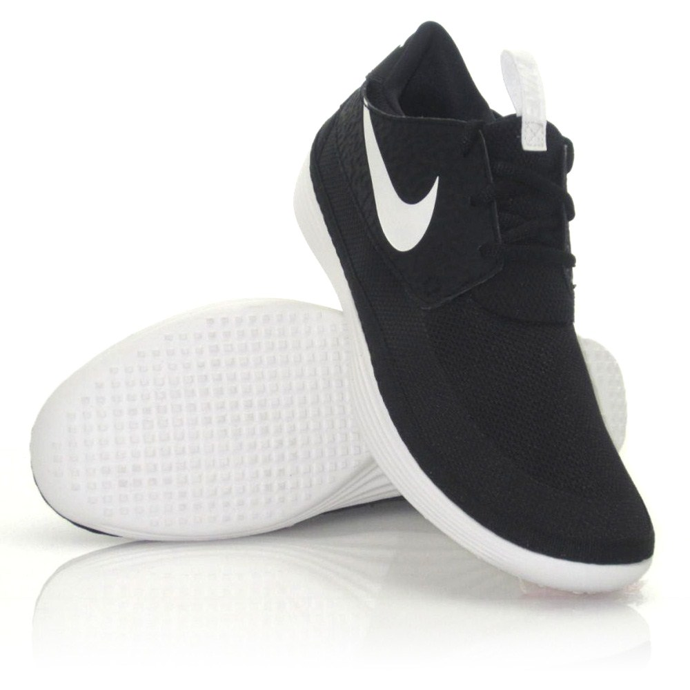 Nike Solarsoft Moccasin - Mens Casual Shoes - Black/White ...
