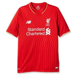 New Balance Liverpool Home 2015/2016 Kids Soccer Jersey