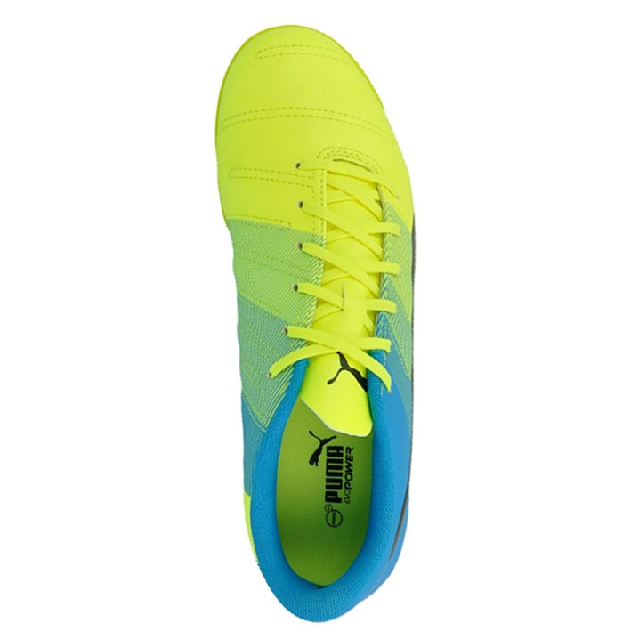 747820dc3 Puma evoPOWER 4.3 IT Mens Indoor Soccer Shoes - Safety Yellow/Black/Atomic  Blue