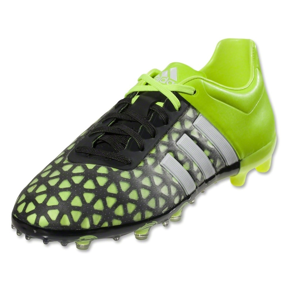 adidas ace 15 1 fg kids boys football boots black silver. Black Bedroom Furniture Sets. Home Design Ideas
