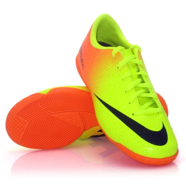 Nike Mercurial Victory IV IC - Kids Indoor Soccer Shoes - Yellow ... d2af698e25565