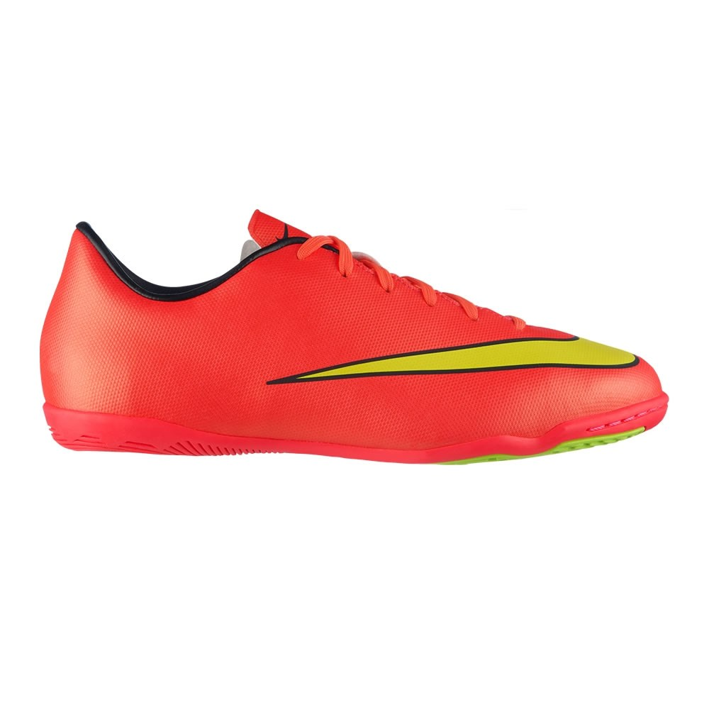 43d3c93a0 Nike Mercurial Victory V Kids Boys Indoor Soccer Shoes - Hyper  Punch/Metallic Gold