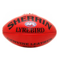 Sherrin AFL Lyrebird Leather Football - Size 4