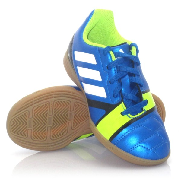 4b63e08a040 Adidas Nitrocharge 3.0 - Kids Indoor Soccer Shoes - Blue Green ...