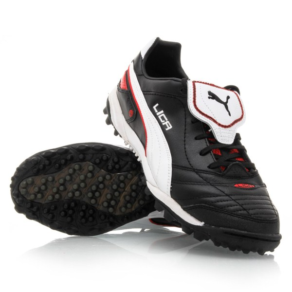 Puma Liga Finale TT FH - Mens Turf Shoes - Black White  421e1e689377