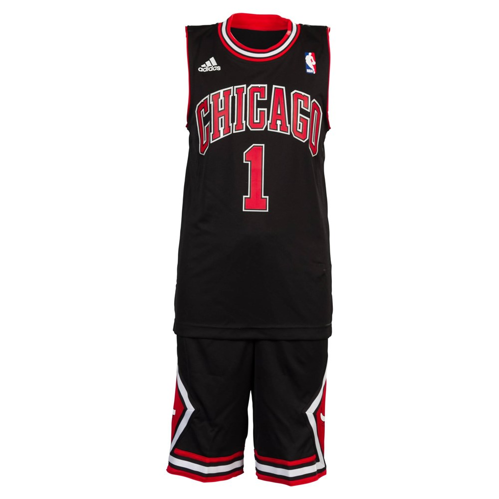 finest selection 5c07e d42f2 Adidas NBA Derrick Rose Chicago Bulls Kids Basketball Set   Sportitude