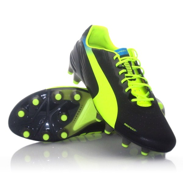 4d8586dff Puma Evo Speed 1.2 FG - Mens Football Boots - Black Green